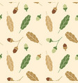 branchseamless pattern with acorns and autumn oak vector image vector image