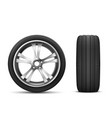 car wheel front and side view vector image vector image