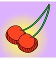 Cherry Pop art vector image vector image