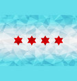 chicago flag polygonal vector image