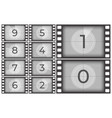 cinema film countdown old movie films strip frame vector image vector image