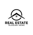 circle real estate logo icon design template vector image vector image