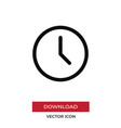 clock icon in modern style for web site and vector image vector image