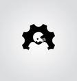 cog setting service logo art theme vector image vector image