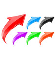 colored up 3d arrows vector image vector image