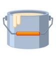 colorful cartoon paint bucket vector image