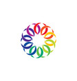 colorful rainbow link circle chain design element vector image