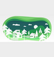 country landscape - modern paper cut vector image