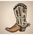 Cowboy boot isolated foe design vector image vector image