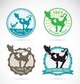 Cows label vector image