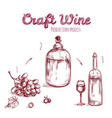 craft drink hand drawn concept vector image
