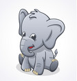 cute baby elephant sitting and smiling vector image vector image