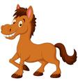 Cute cartoon brown horse vector image vector image