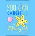 cute starfish cartoon vector image vector image
