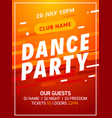 dance party disco flyer poster music event banner vector image vector image