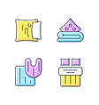 domestic textile rgb color icons set vector image vector image