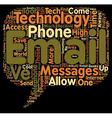 Email To Telephone Innovative Tool Or High Tech vector image vector image