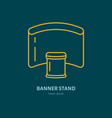 exhibition banner stand flat line icon vector image vector image