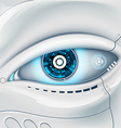 Eye of the robot vector image vector image