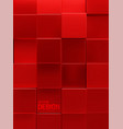 geometric background red square shapes vector image vector image