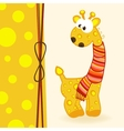 giraffe with scarf vector image