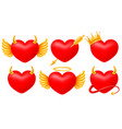 hearts angel and devil set vector image vector image