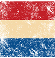 Holland retro flag vector image vector image