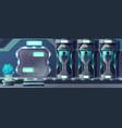 human cloning laboratory cartoon concept vector image vector image