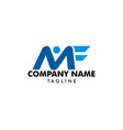 initial letter mf logo template design vector image vector image