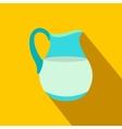 Jug of milk flat icon vector image vector image