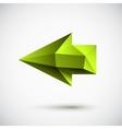 left green arrow vector image