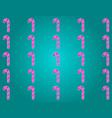 lollipops on a beige background vector image vector image