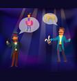 magic show magician conjured vector image vector image