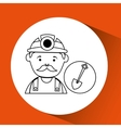 mine worker pickaxe with shovel vector image vector image