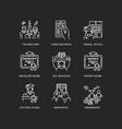 modern education chalk white icons set on black vector image