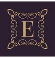 Monogram letter E Calligraphic ornament Gold vector image vector image