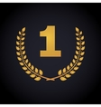 Number one in laurel wreaths frame vector image