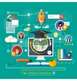 Online professional education vector image vector image