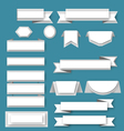 Paper ribbos and banners vector image vector image