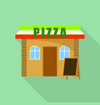 pizza street shop icon flat style vector image vector image