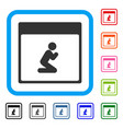 pray person calendar page framed icon vector image vector image