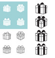 present box icon in various styles vector image vector image