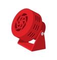 Red fan cartoon icon vector image