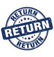 return blue grunge round vintage rubber stamp vector image vector image