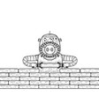robot builder sketch engraving vector image vector image