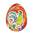 rooster over egg vector image