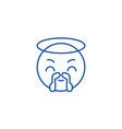 saint emoji line icon concept saint emoji flat vector image vector image