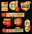 sale stickers and tags golden collection vector image vector image