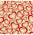 seamless pattern hearts for Valentines Day vector image vector image