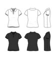 set female polo t-shirt vector image vector image